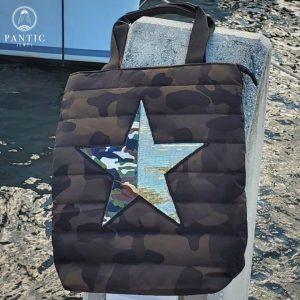 Camo Puffer Star Bag