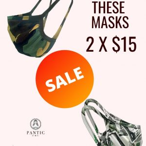 Dollar Print And Camouflage Print Mask