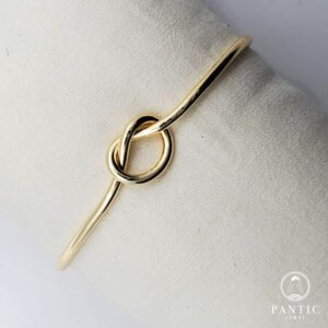 Bracelet Infinity Cuff Gold Plated
