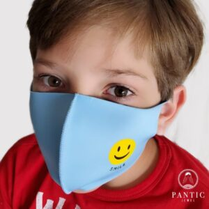 Kids Masks Smiley Face Blue Green Or Pink