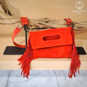 Red Suede Fringes Bag
