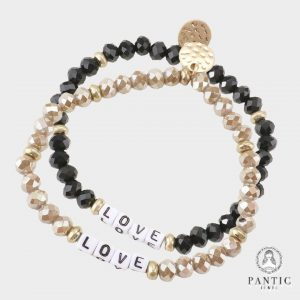 Love Faceted Beaded Stretch Bracelets (Copy)