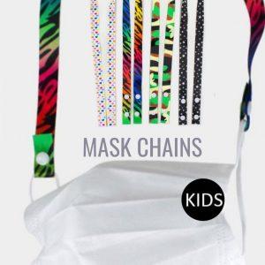 Patterned Kids Lanyard Mask Chain